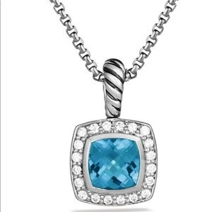 Petite Albion® Necklace Blue Topaz + Diamonds